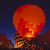 Hot air balloons in historic downtown Telluride Colorado