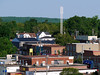 Downtown New Liskeard, featuring the new NorthernTel cell tower.