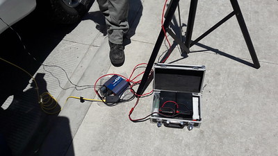Once again using the trusty portable power pack. 24 AH