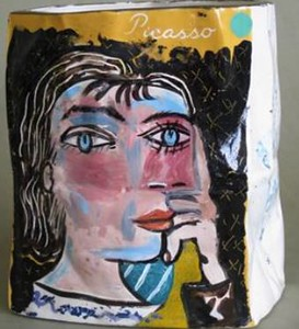 Parker, Patricia Zinsmeister - Untitled handpainted ceramic vase, after Picasso, 1992, 1992