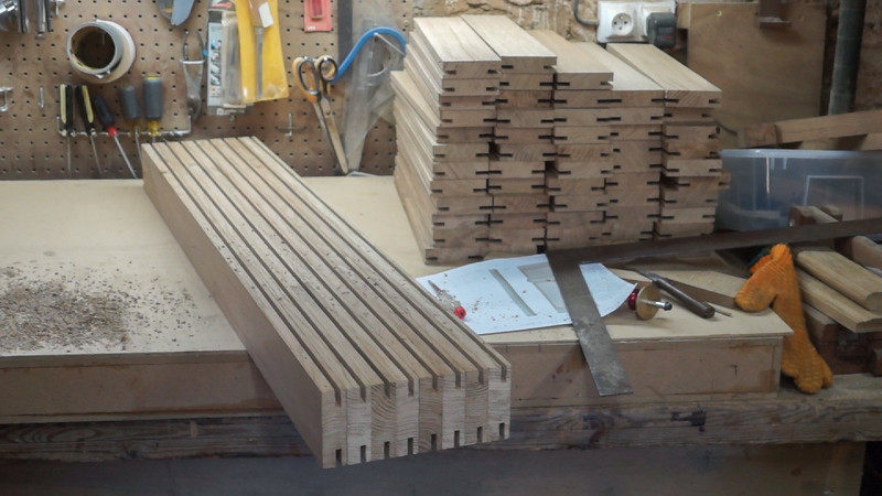 Rails and stiles grooved