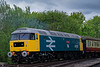 47635 departing North Weald on the rear of the 13:55 Ongar - Epping Forest, <br /> on 27th April 2019.