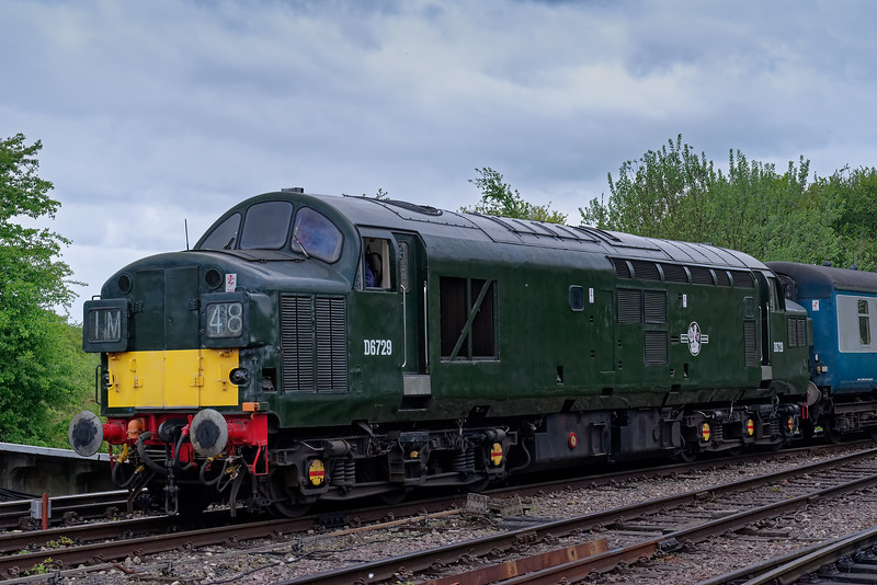 37029 arrives at North Weald with the 13:48 Epping Forest - Ongar, on 27th April 2019.