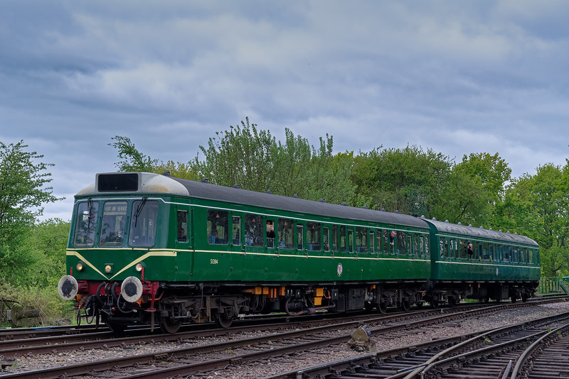 51384 / 51342 arrive at North Weald, with the 12:33 Epping Forest - North Weald, <br /> on 27th April 2019.