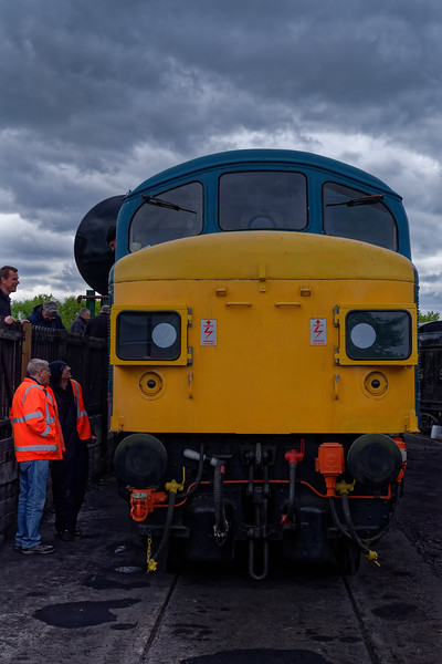 45132 in the yard at North Weald, between running up and down under its own power.<br /> 27th April 2019.