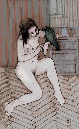 Girl with the Raven