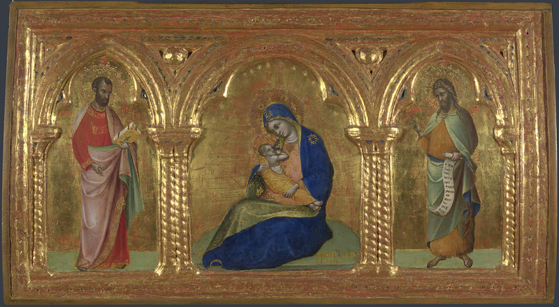 The Madonna of Humility with Saints Mark and John
