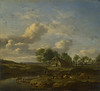 A Landscape with a Farm by a Stream
