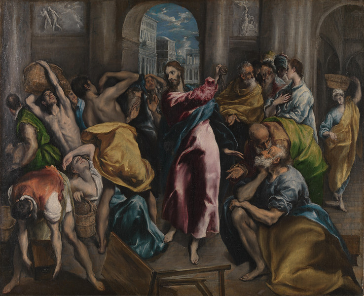 Christ driving the Traders from the Temple