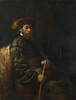 A Seated Man with a Stick