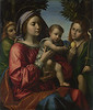 The Virgin and Child with the Baptist and an Angel