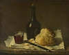 Still Life with Bottle, Glass and Loaf