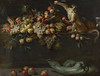 Still Life of Fruit and Vegetables with Two Monkeys