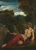 Saint John the Baptist seated in the Wilderness