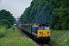 50027 passes Ropley Down Outer Home signal with the 12:55 Alresford - Alton, <br /> on 1st June 2018.