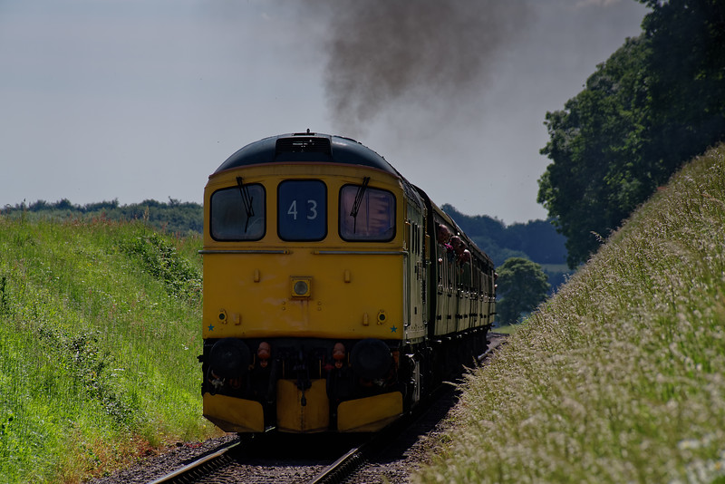 33202 at Bluebell Crossing with the 14:55 Alresford - Alton, on 2nd June 2018.