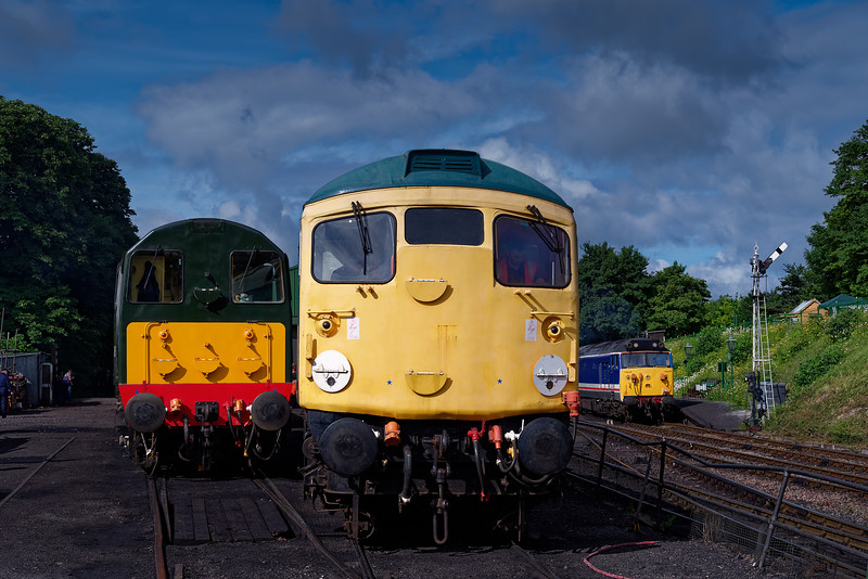Loco preparations underway at Ropley, for the second day of the Diesel Gala <br /> on 2nd June 2018.