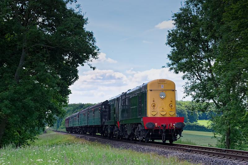 20001 / 20059 at Rookwood Lane with the 14:15 Alresford - Alton, on 3rd June 2018.