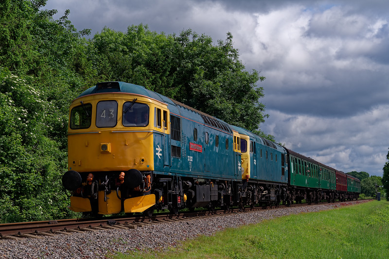 33202 / 26043 at Stable Lane with the 10:40 Alton - Alresford, on 2nd June 2018.