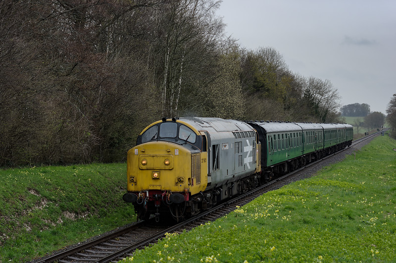 37901 at Stable Lane, with the 11:40 Alton - Alresford, on 22nd April 2016.