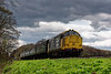 37901 passes Ropley Down Distant signal, with the 12:35 Alresford - Alton, <br /> on 23rd April 2016.