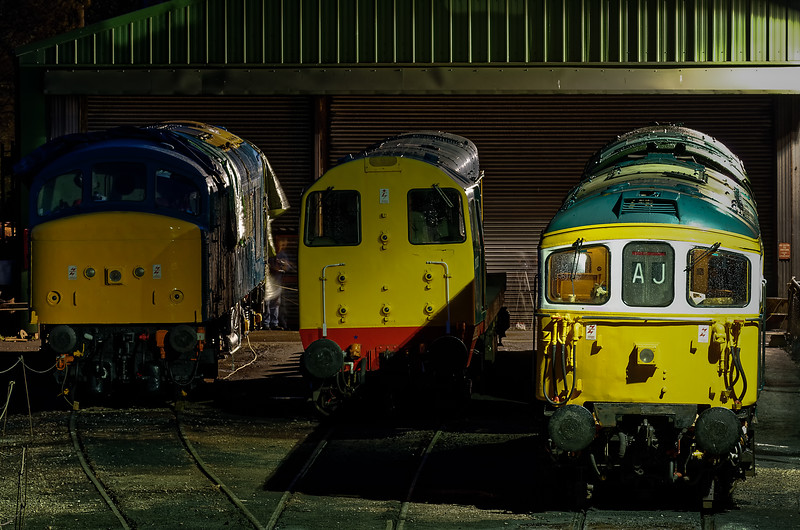 33109 and 20087 stabled overnight in Ropley Yard, on 27th April 2013. <br /> 45132 was on display at Ropley, during the Gala.