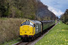37901 top & tail with 37905 passing Ropley Down Home signal,<br /> with the 13:30 Alton - Alresford, on 26th April 2013.