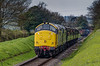 37901 and 37905 climbing away from Ropley, with the 12:25 Alresford - Alton, <br /> on 27th April 2013.