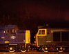 The night before the Gala, 40012 and 50007 at Ropley. 3rd March 1995. <br /> Scanned Transparency.