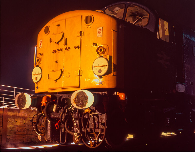 """40012 """"Aureol"""" in the yard at Ropley on 5th March 1995. Scanned Transparency."""