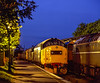 Locos stabled overnight at Ropley, on 14th May 2005. Scanned Transparency.