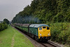 24081 passes the Ropley Down Outer Home signal, with the 11:15 Alresford - Alton, <br /> on 5th September 2014.