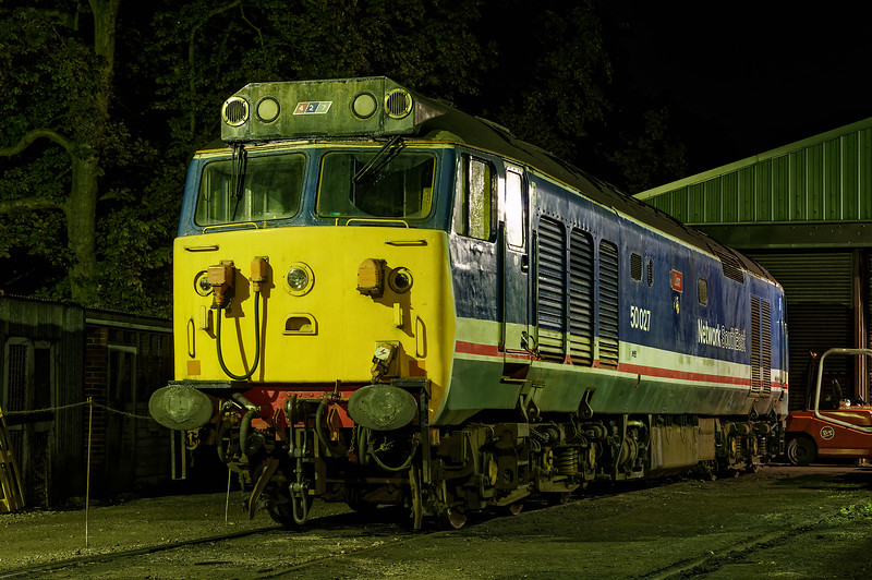 """50027 """"Lion"""" in the yard at Ropley, on 6th September 2014."""