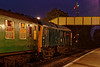 24081 at Ropley, with the 20:10 Alton - Alresford, on 6th September 2014.