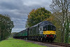 37350 at Rookwood Lane with the 11:05 Alresford - Alton, on 20th October 2017.