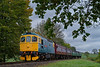 33202 coming off Wanders Curve with the 10:50 Alton - Alresford, on 20th October 2017.