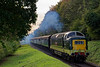55002 at College Crossing, with the 15:05 Alresford - Alton, on 20th October 2017. <br /> The Deltic had taken over the train at Ropley.