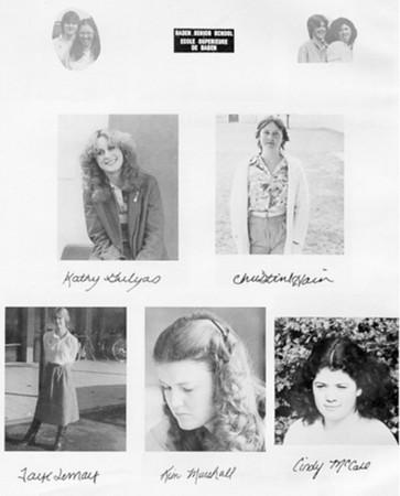 Baden Senior School 1980-1981 Partial Yearbook