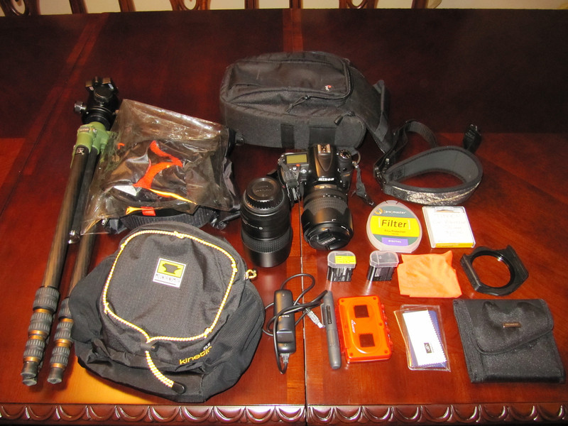 And of course... my camera gear (toned down to the essentials)