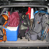 5am wakeup call and we load all the gear into my truck with Eric and Erin.