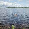 Mike and I take a swim in the cold clean water