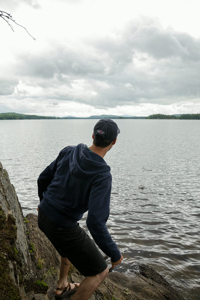 Eric skipping stones