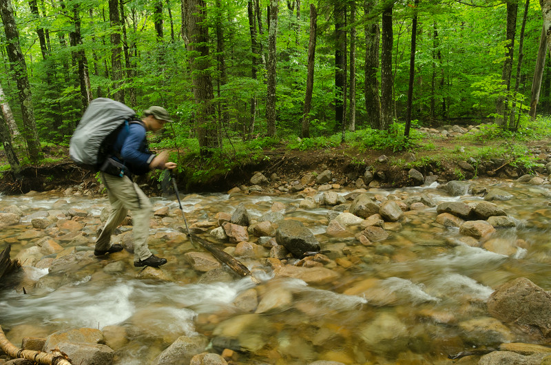 one of many stream crossings. Water wasn't too high but moving very fast.