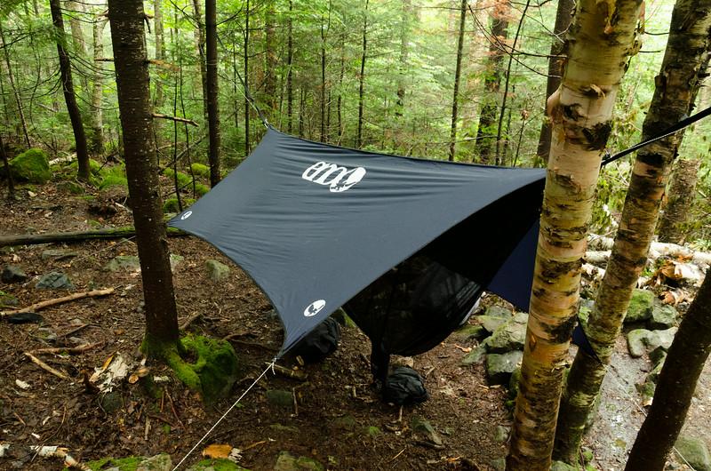my hammock set up at 13 Falls tent site