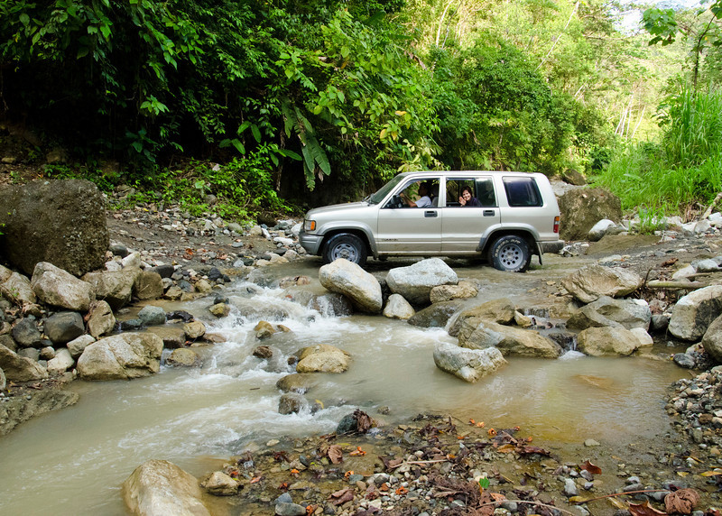 One of the many rivers we had to cross to get to the Luna Lodge. These roads are impassable in high water seasons.