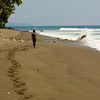 Jess on the beach heading to Corcovado National Park