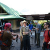 gathering before we head out for a hike up Cerra Chato, the volcano next to Arenal