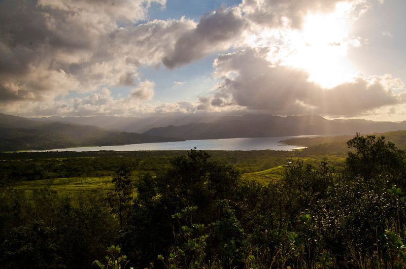 Waiting for the right light at this outlook of Arenal Lake
