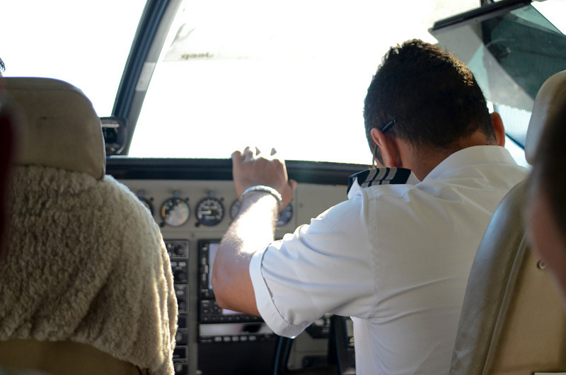 The pre-flight prayer meeting in the cockpit