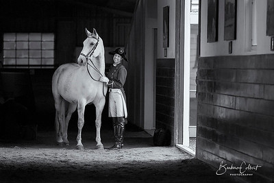 Trainer Jessica Stark with Lipizzan Stallion Pluto Gratia